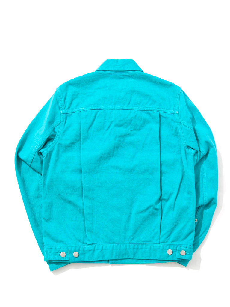 Teal Denim Jacket 818408166217
