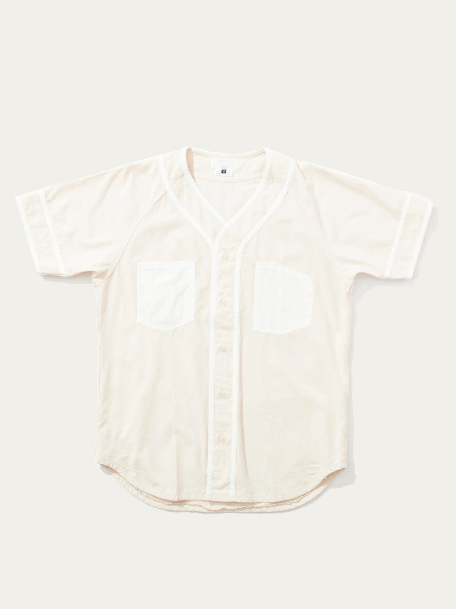 S Mixed Fabric Baseball Shirt 1