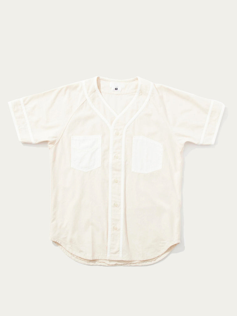 Mixed Fabric Baseball Shirt