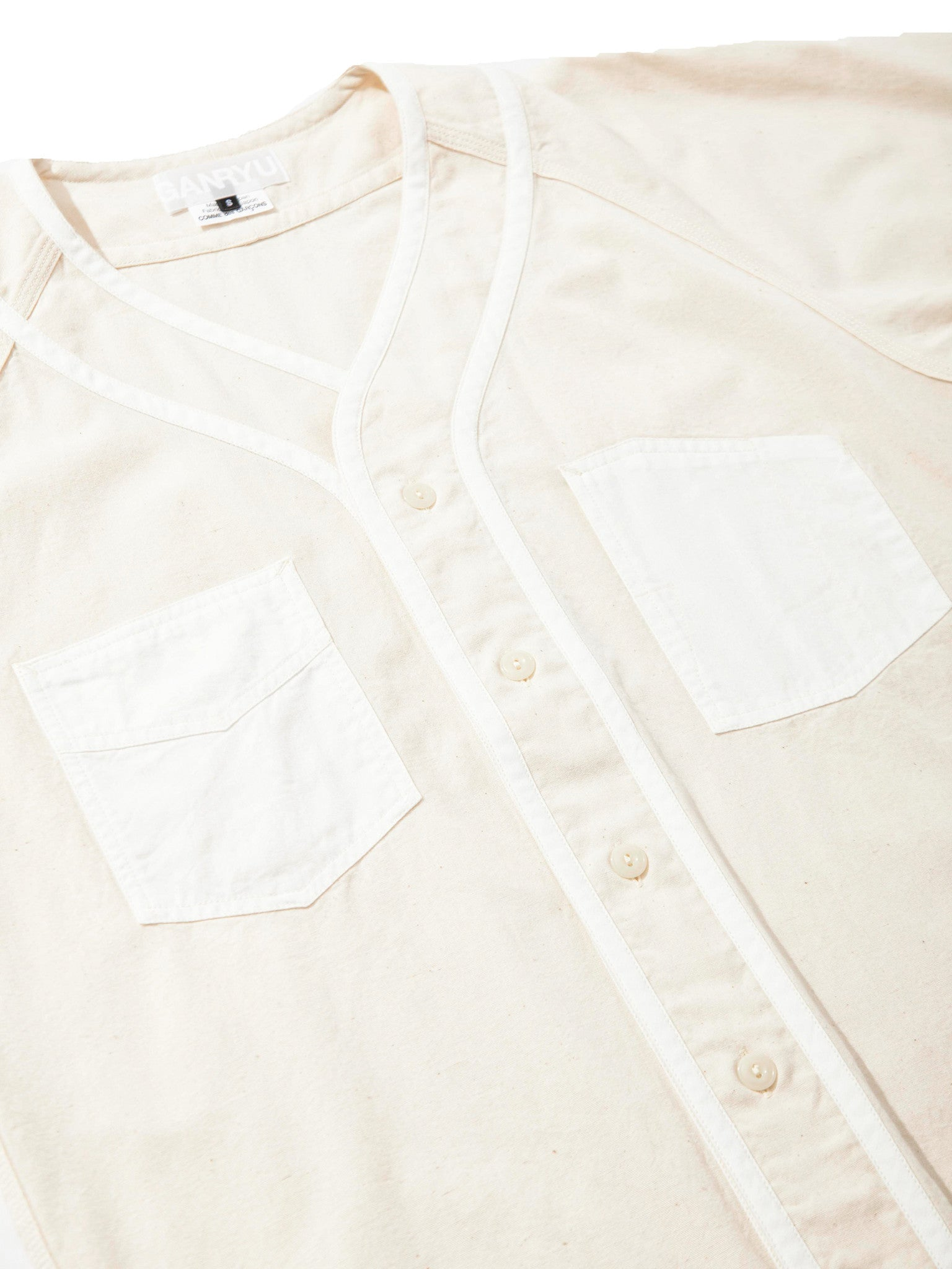 L Mixed Fabric Baseball Shirt 6