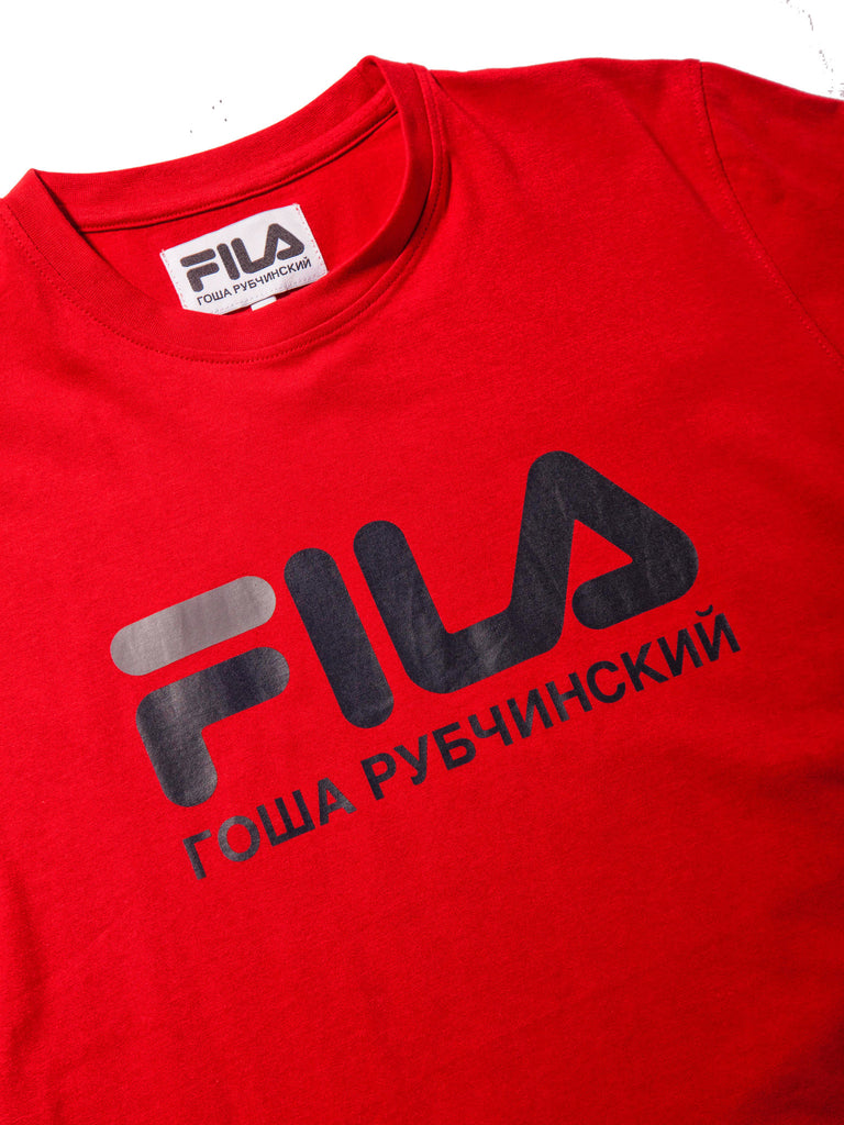 Red Fila T-Shirt 418263788105
