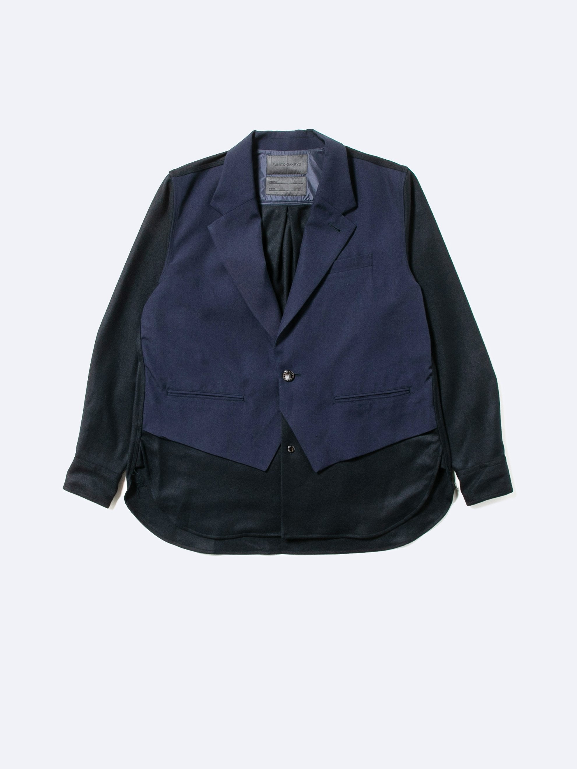 Dark Navy Hybrid Blazer Shirt 1