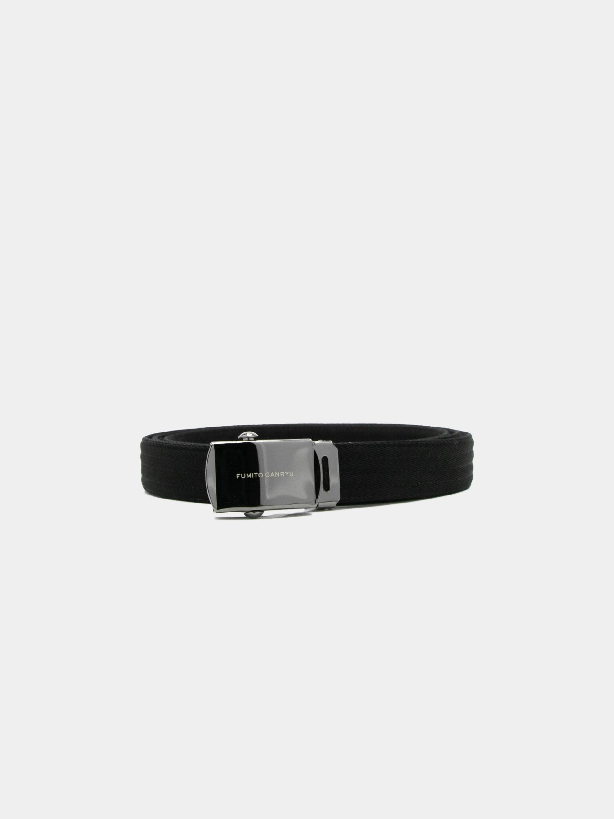 Black Slim Judo Web Roller Buckle Belt 1