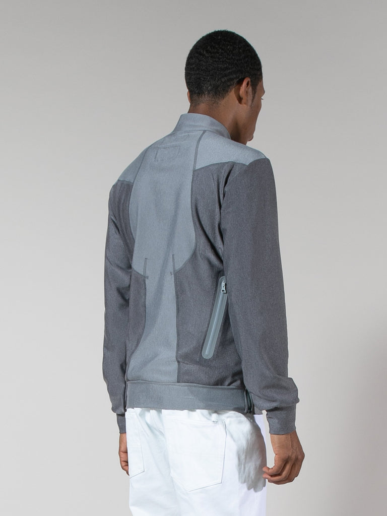 Charcoal Grey Quick-Dry Zip Sweater 413571121938509