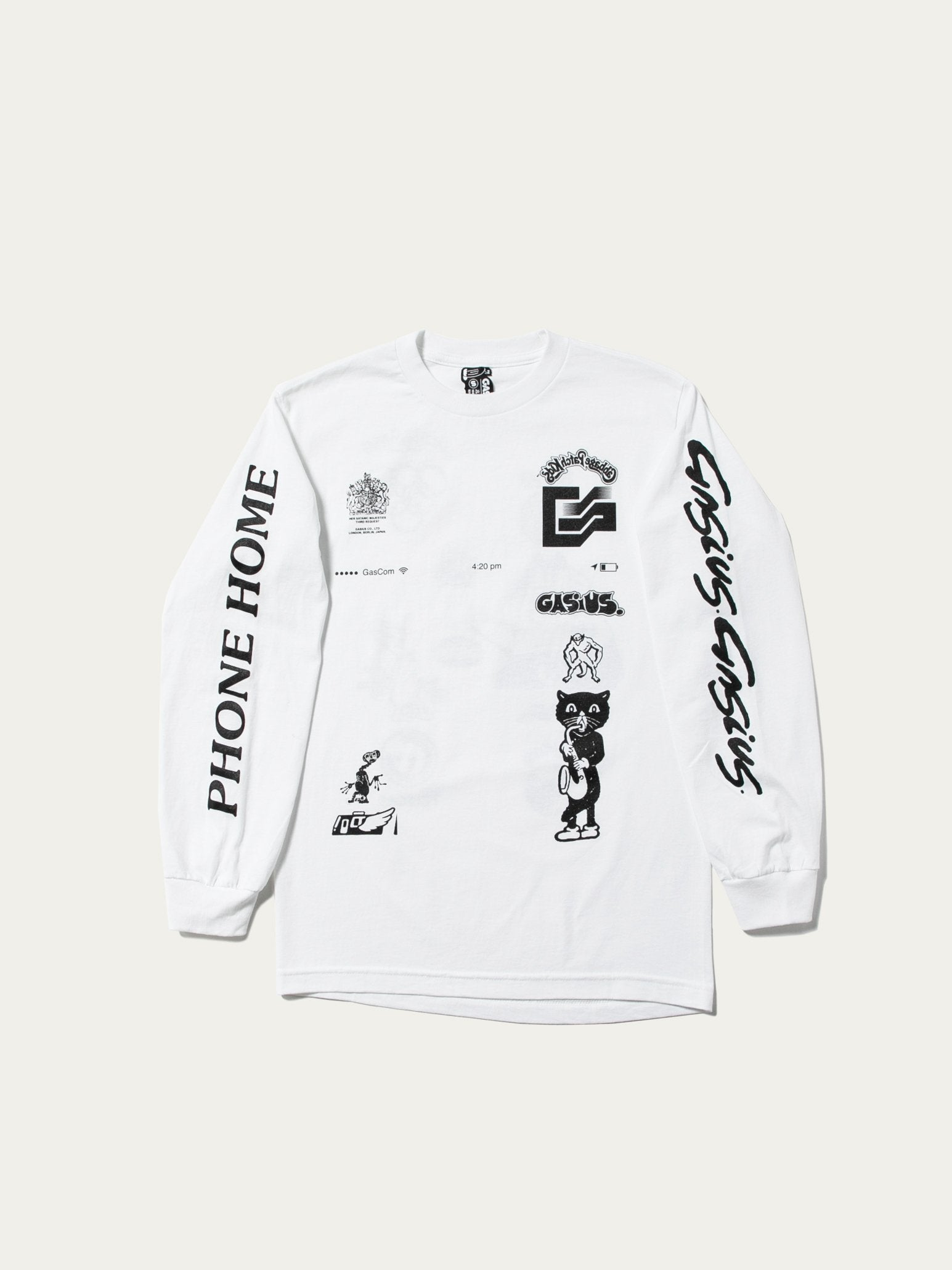 White The Extra Gasius L/S Tee 1