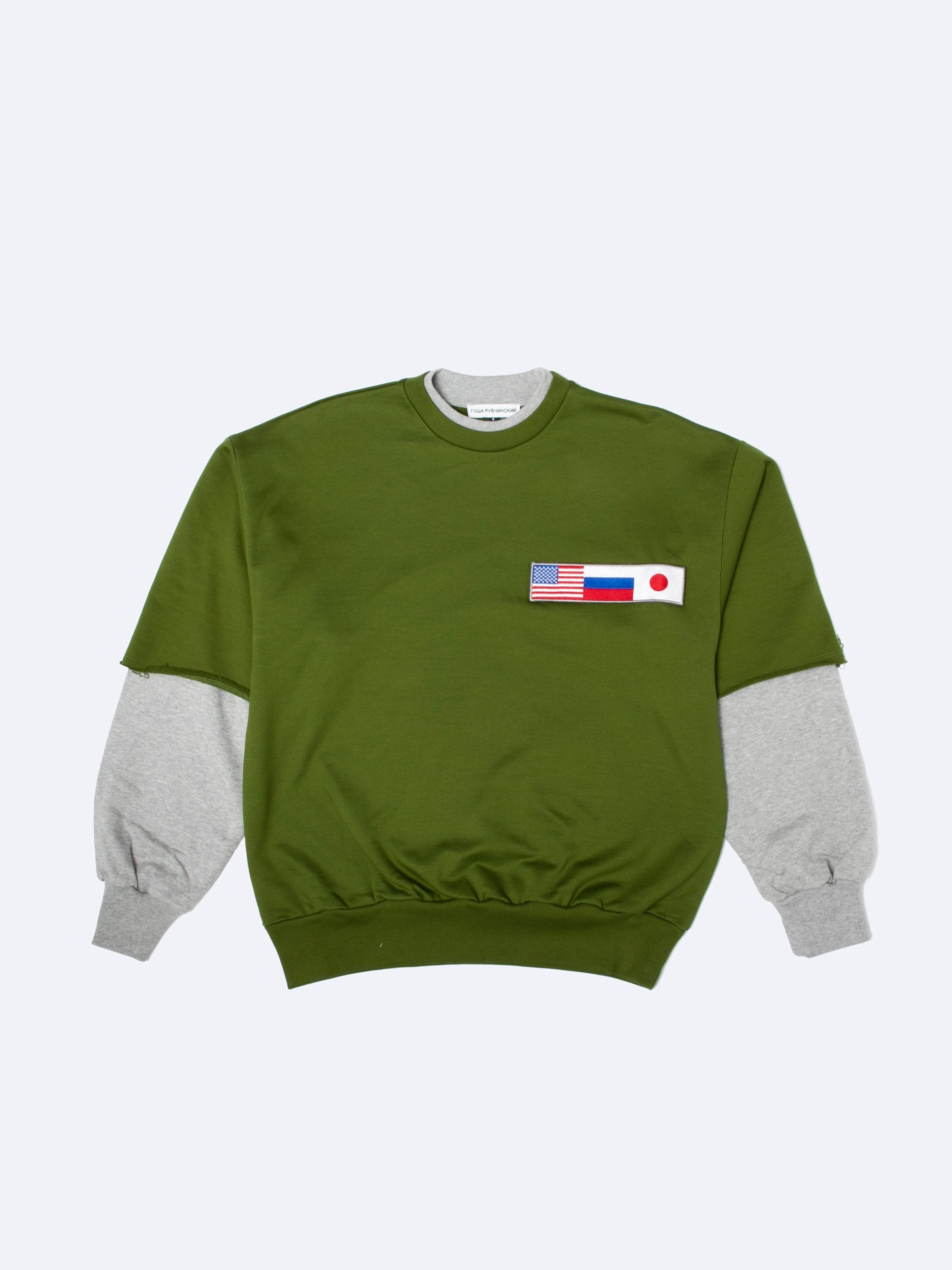 Flag Double-Sleeve Crewneck