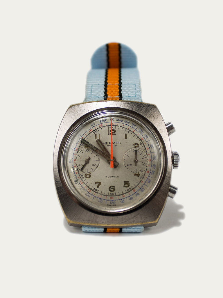 Rare 1970's Stainless Steel Hermes Chronograph Watch