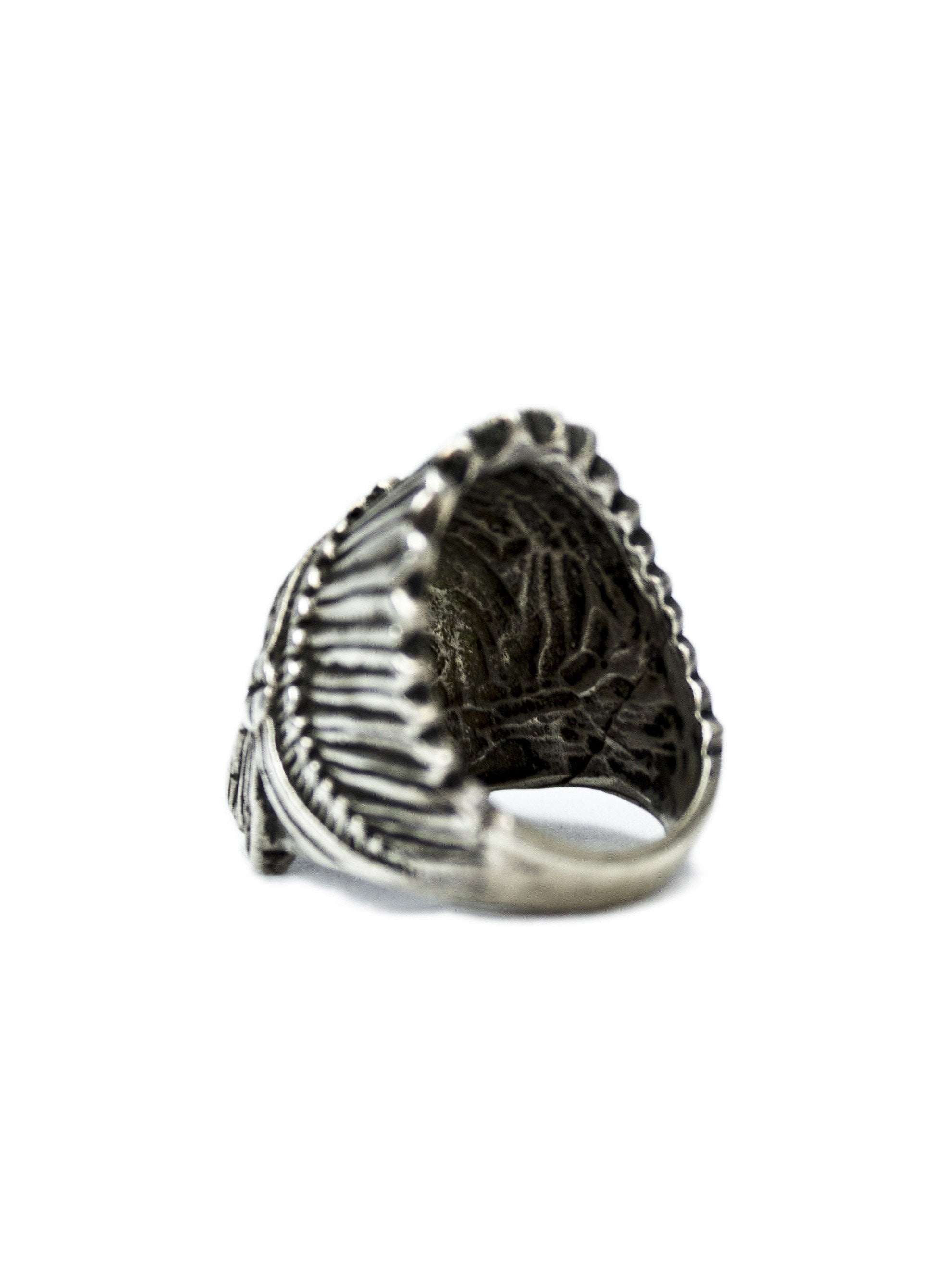 Vintage Sterling Silver Indian Chief Ring
