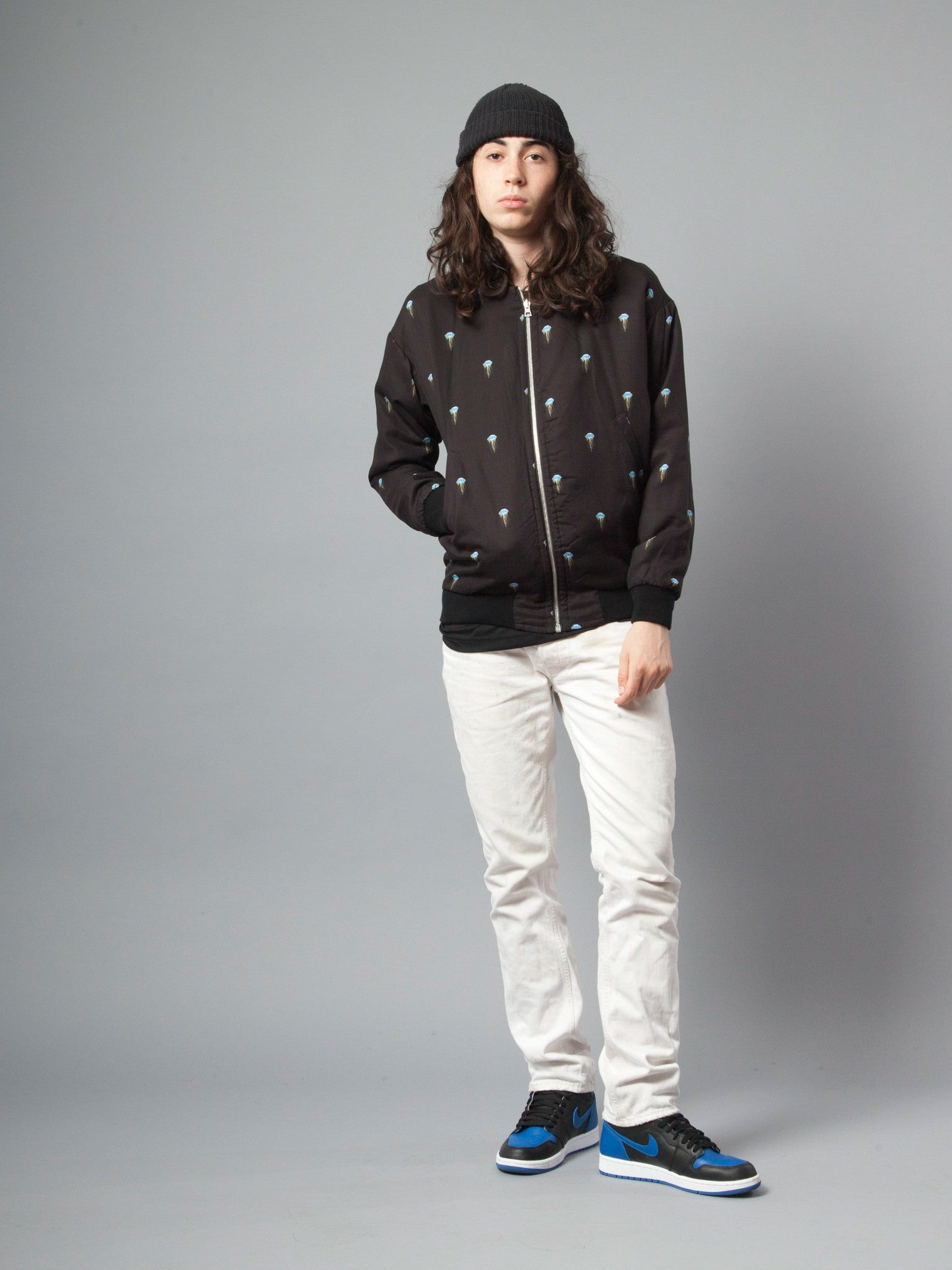 Jellyfish/Black Pisces Reversible Jacket (Jellyfish) 2