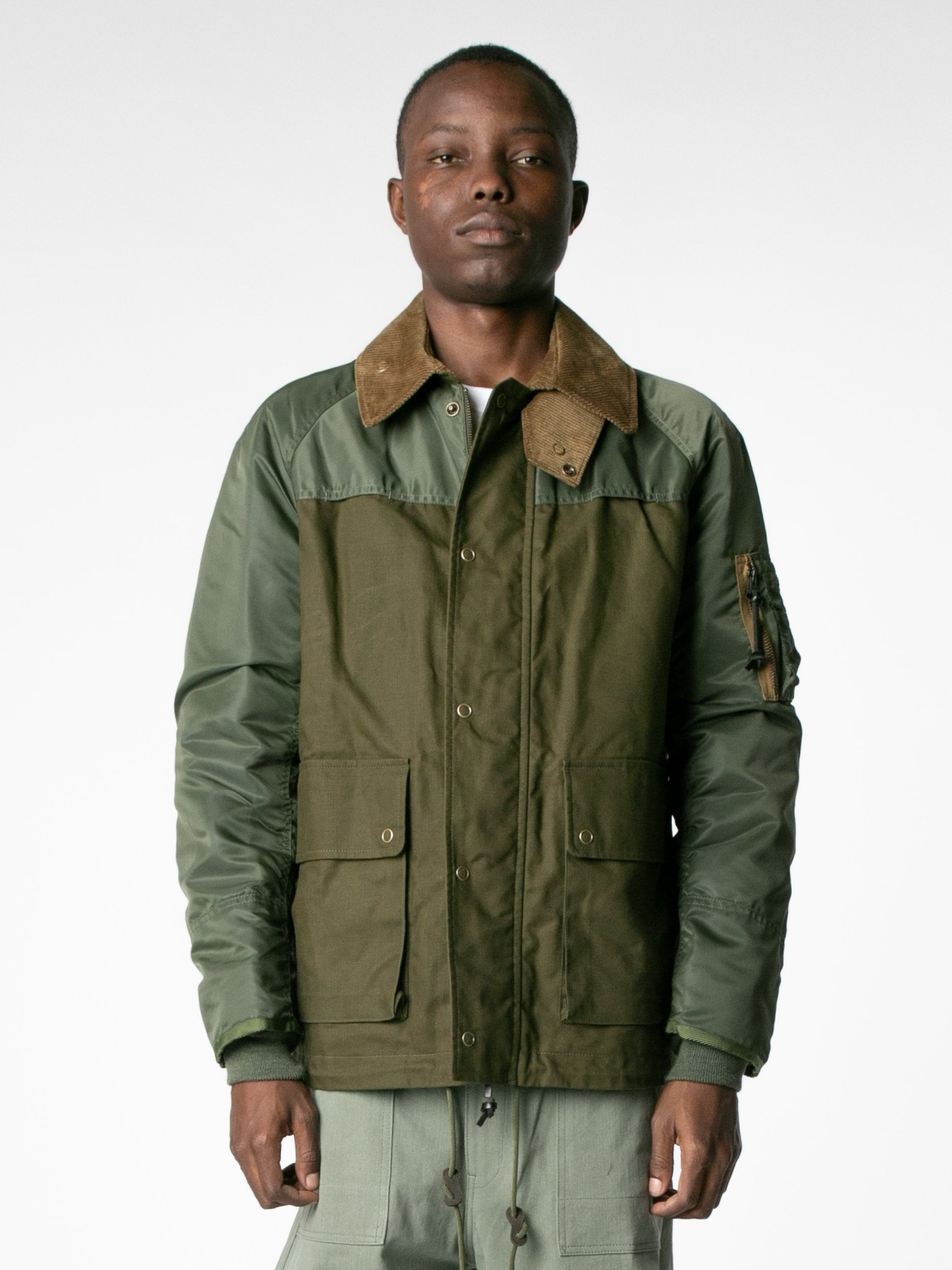 Brown / Olive Hybrid MA-1 Field Coat 2