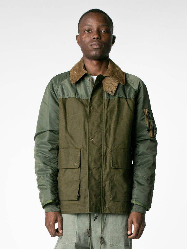 Brown / Olive Hybrid MA-1 Field Coat 213570092990541