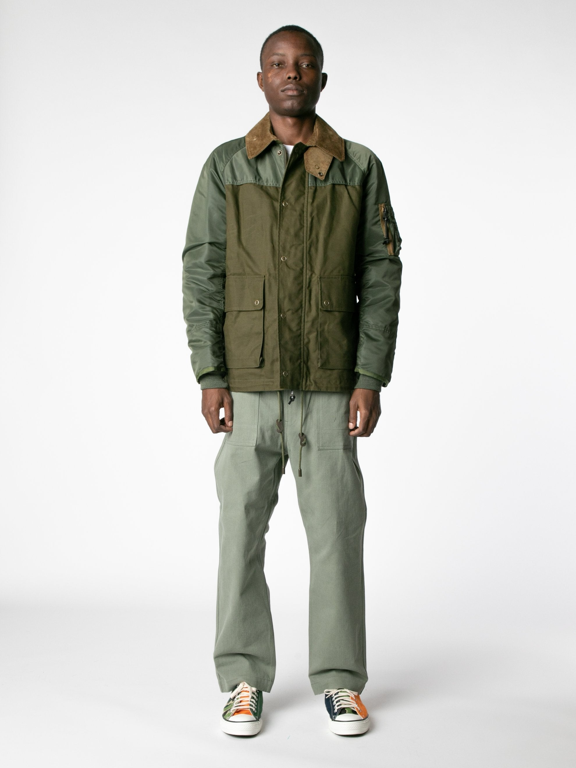 Brown / Olive Hybrid MA-1 Field Coat 3