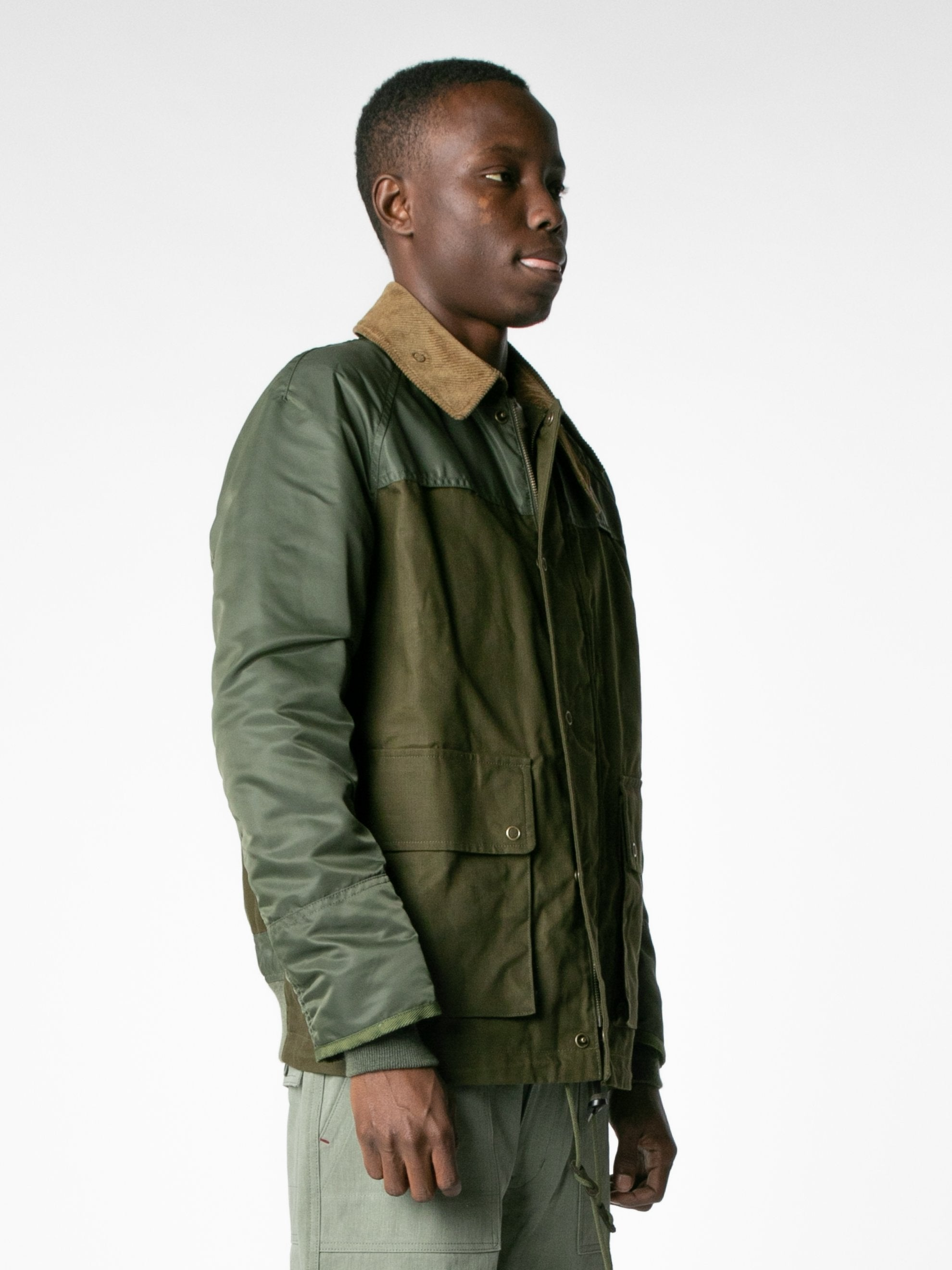 Brown / Olive Hybrid MA-1 Field Coat 4