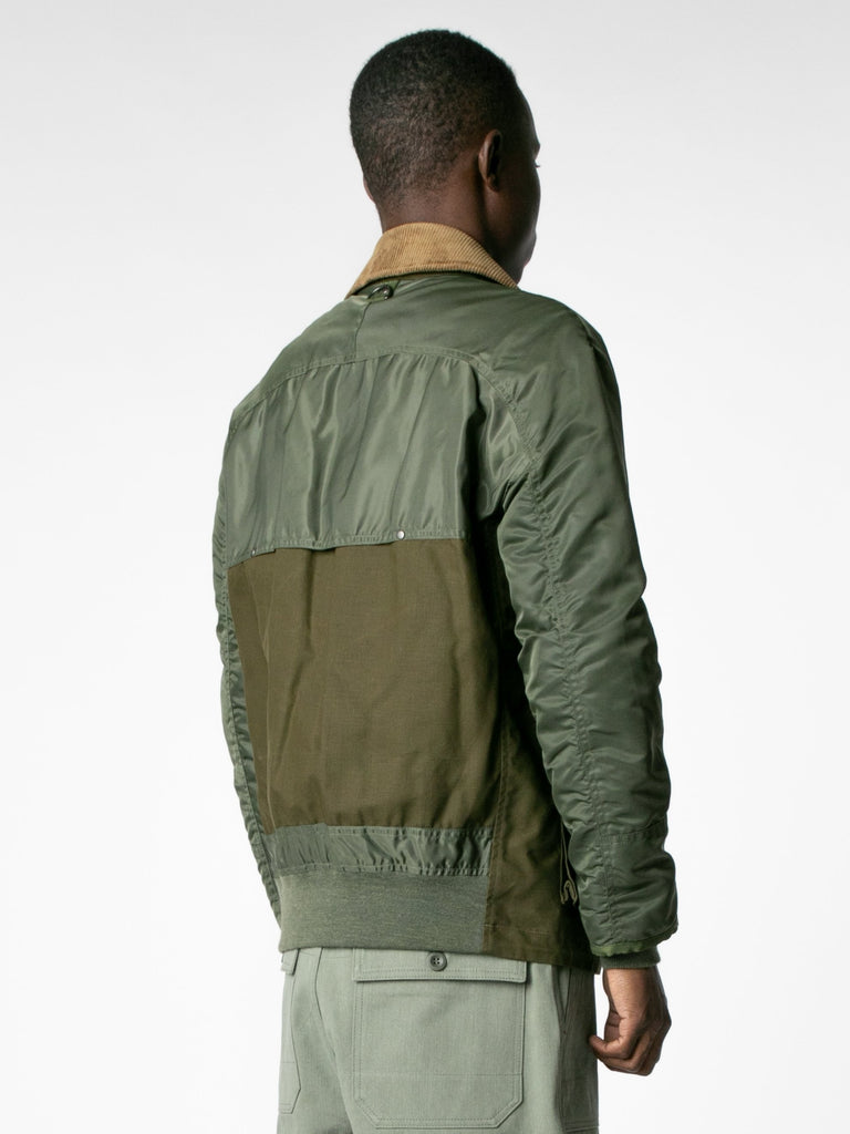 Brown / Olive Hybrid MA-1 Field Coat 513570093088845