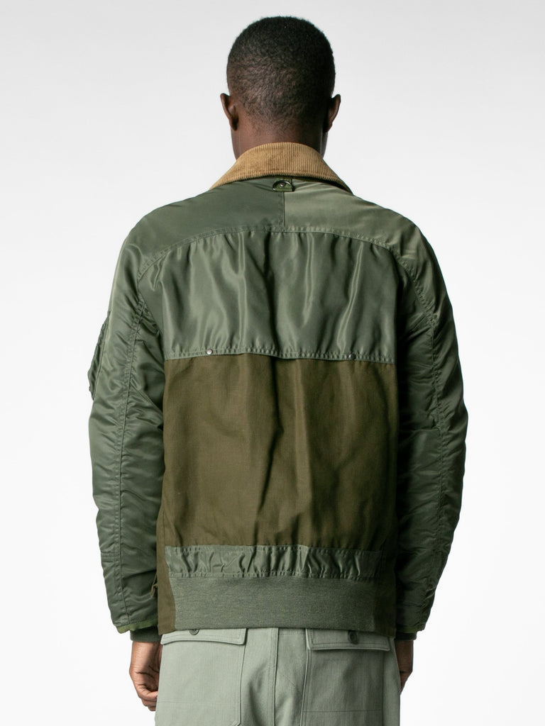 Brown / Olive Hybrid MA-1 Field Coat 613570093121613