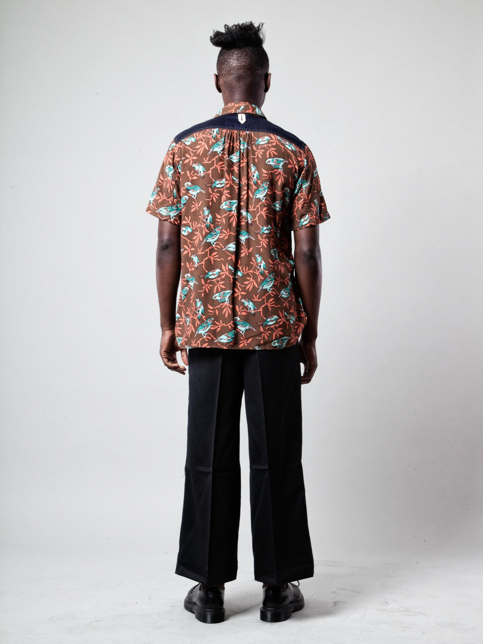 M Printed Motif Shirt (Birds) 3