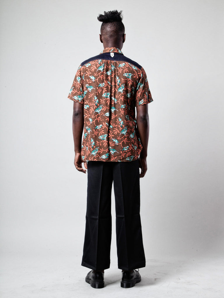 M Printed Motif Shirt (Birds) 319548620809