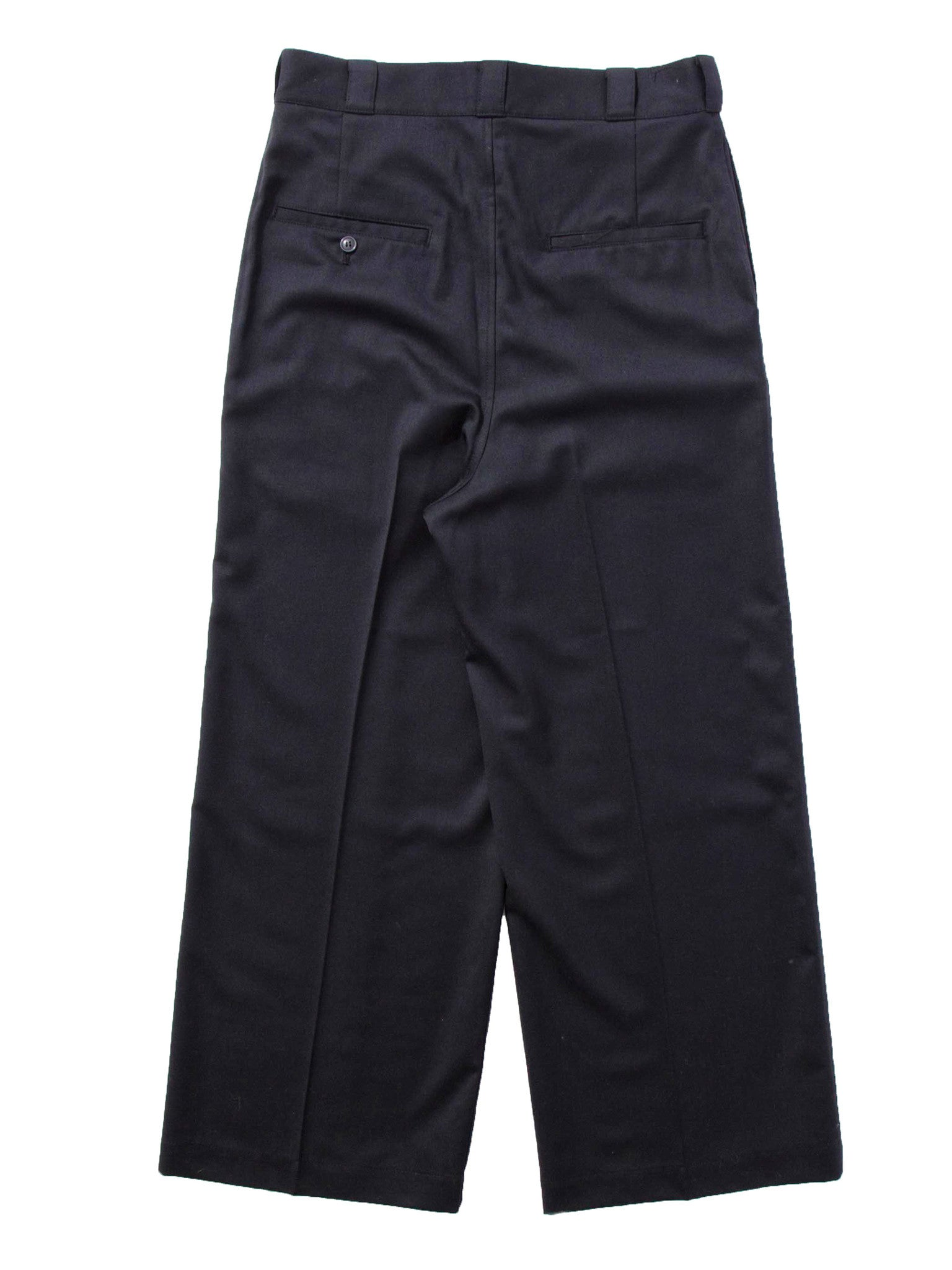 Black Wide Leg Wool Trouser 8