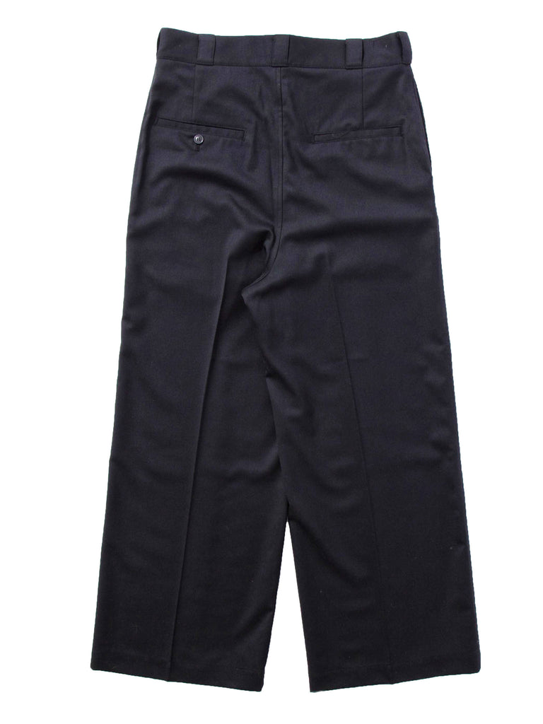 Black Wide Leg Wool Trouser 818408416713