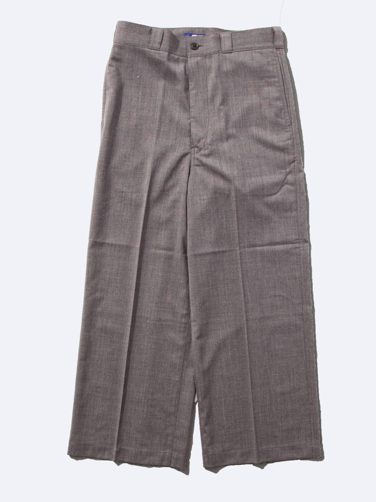 Charcoal Wide Leg Wool Trouser 1