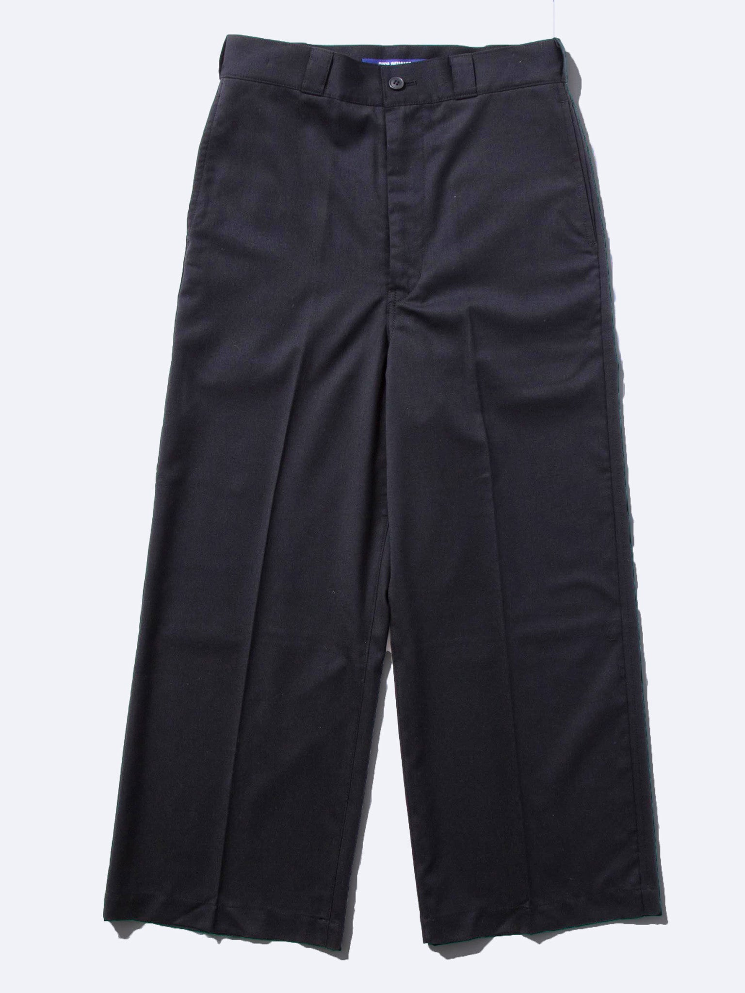 Black Wide Leg Wool Trouser 7
