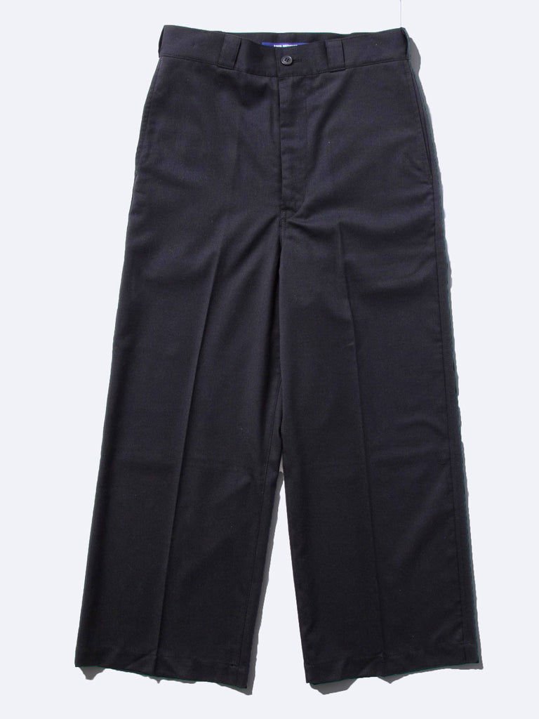 Black Wide Leg Wool Trouser 718408433865