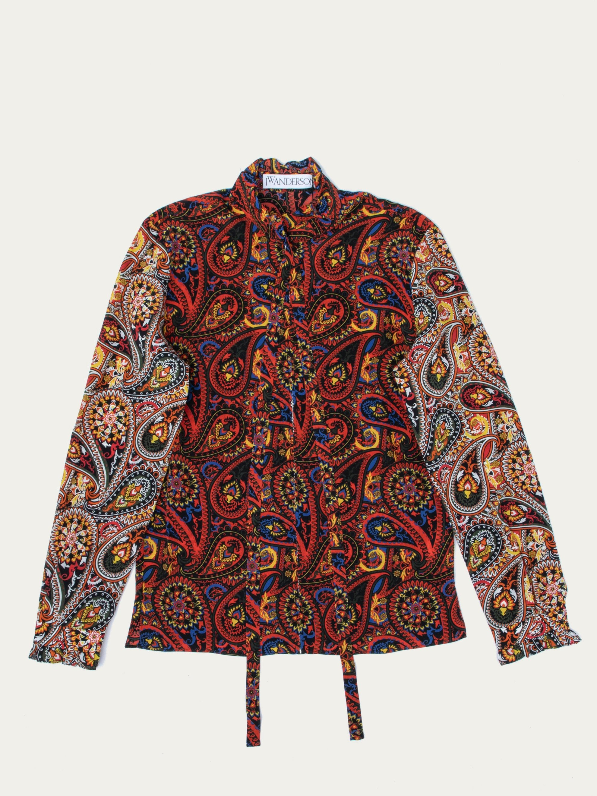Paisley Zip Through Shirt