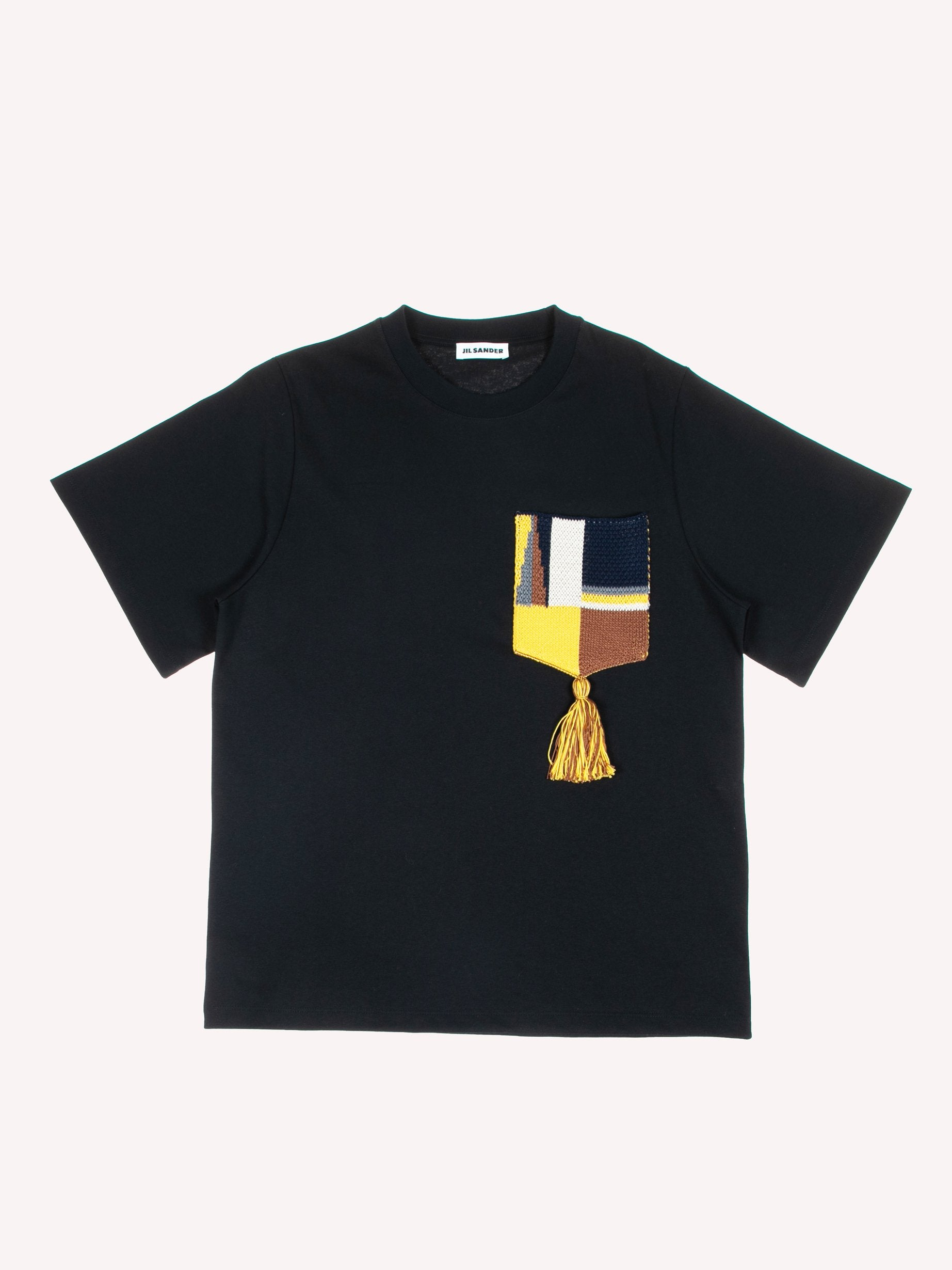 Black Knitted Short Sleeve T-Shirt 1