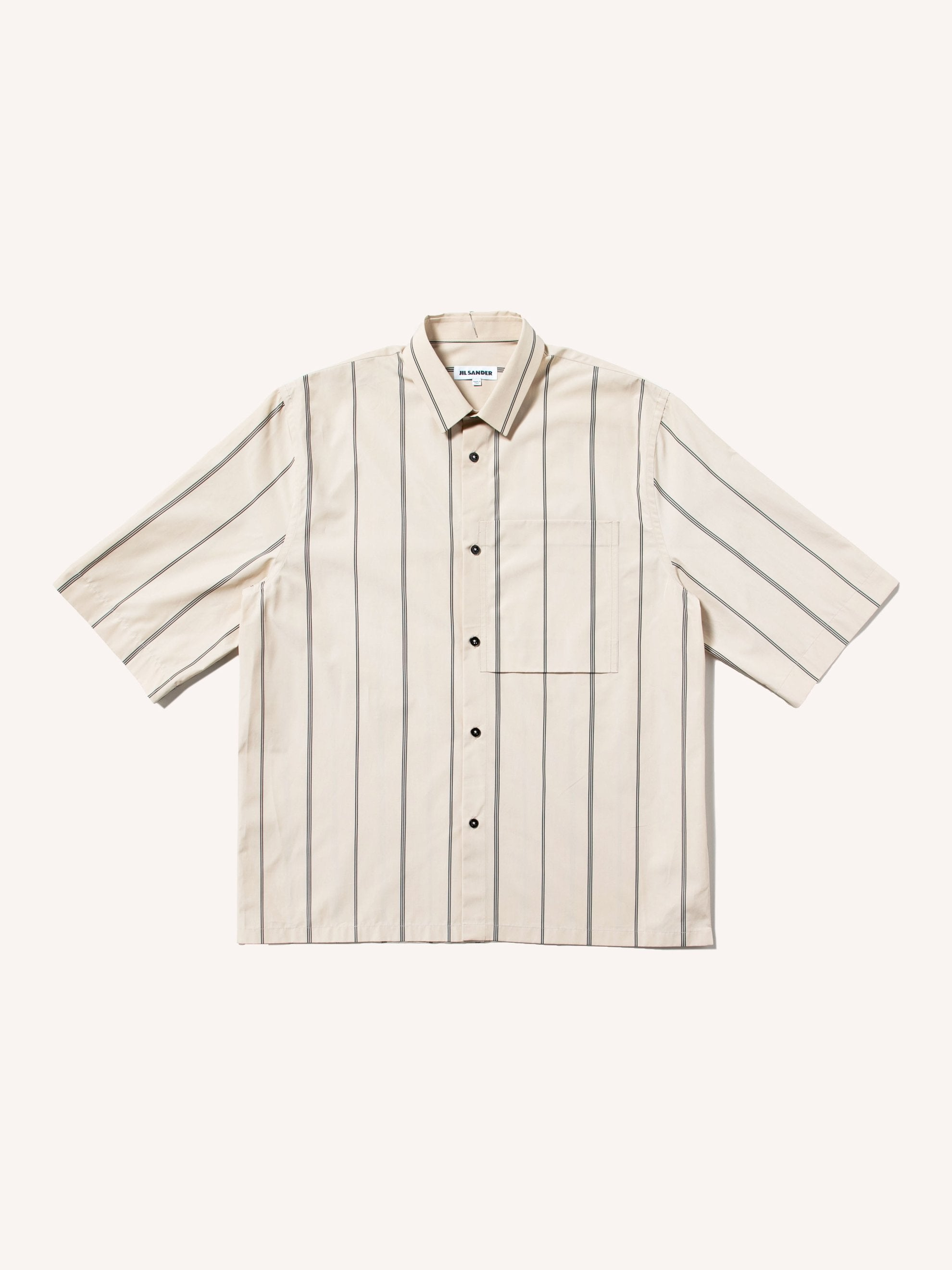 Beige Silence Striped Shirt 1