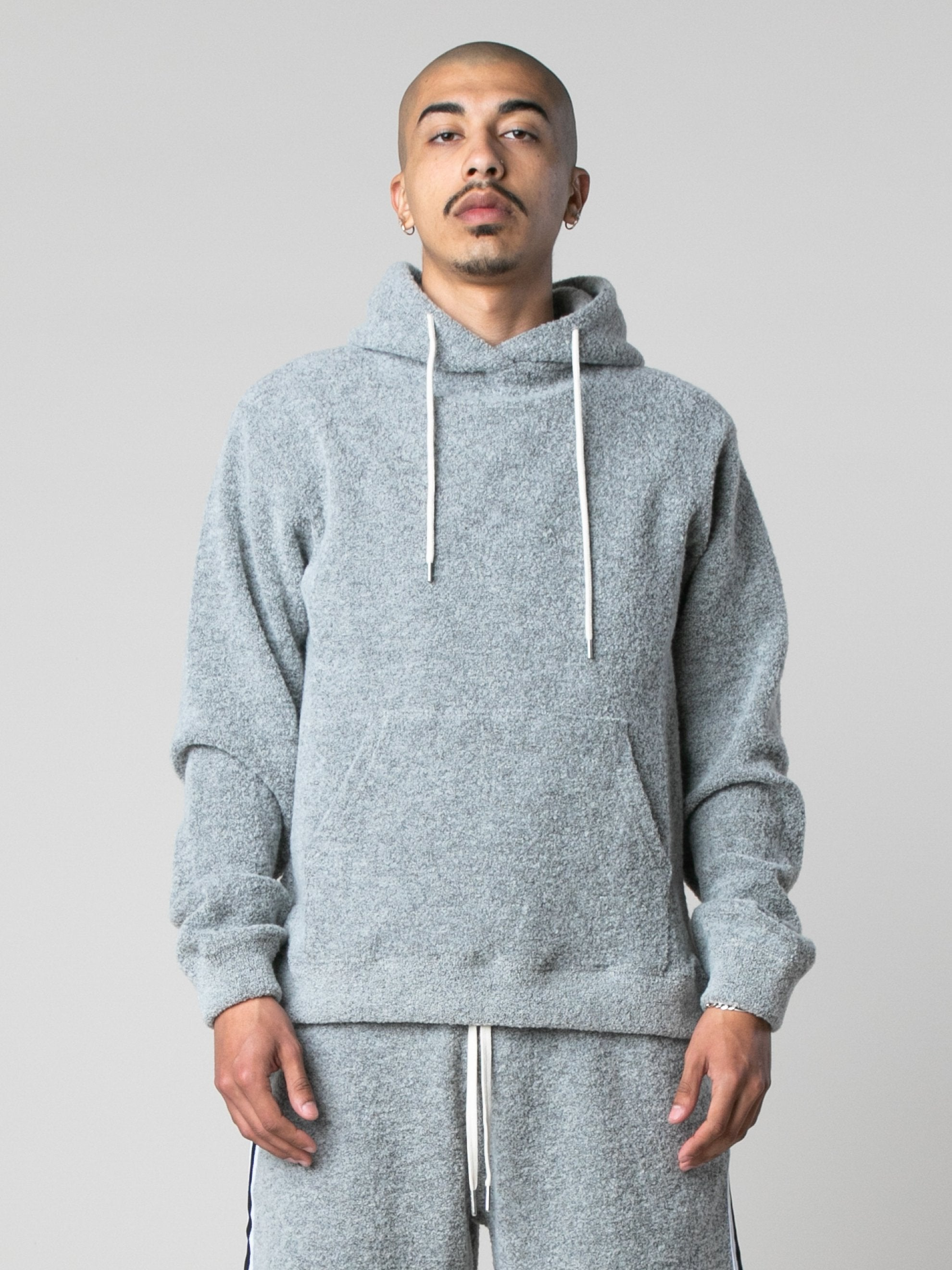 Cement Boucle Beach Hoodie 2