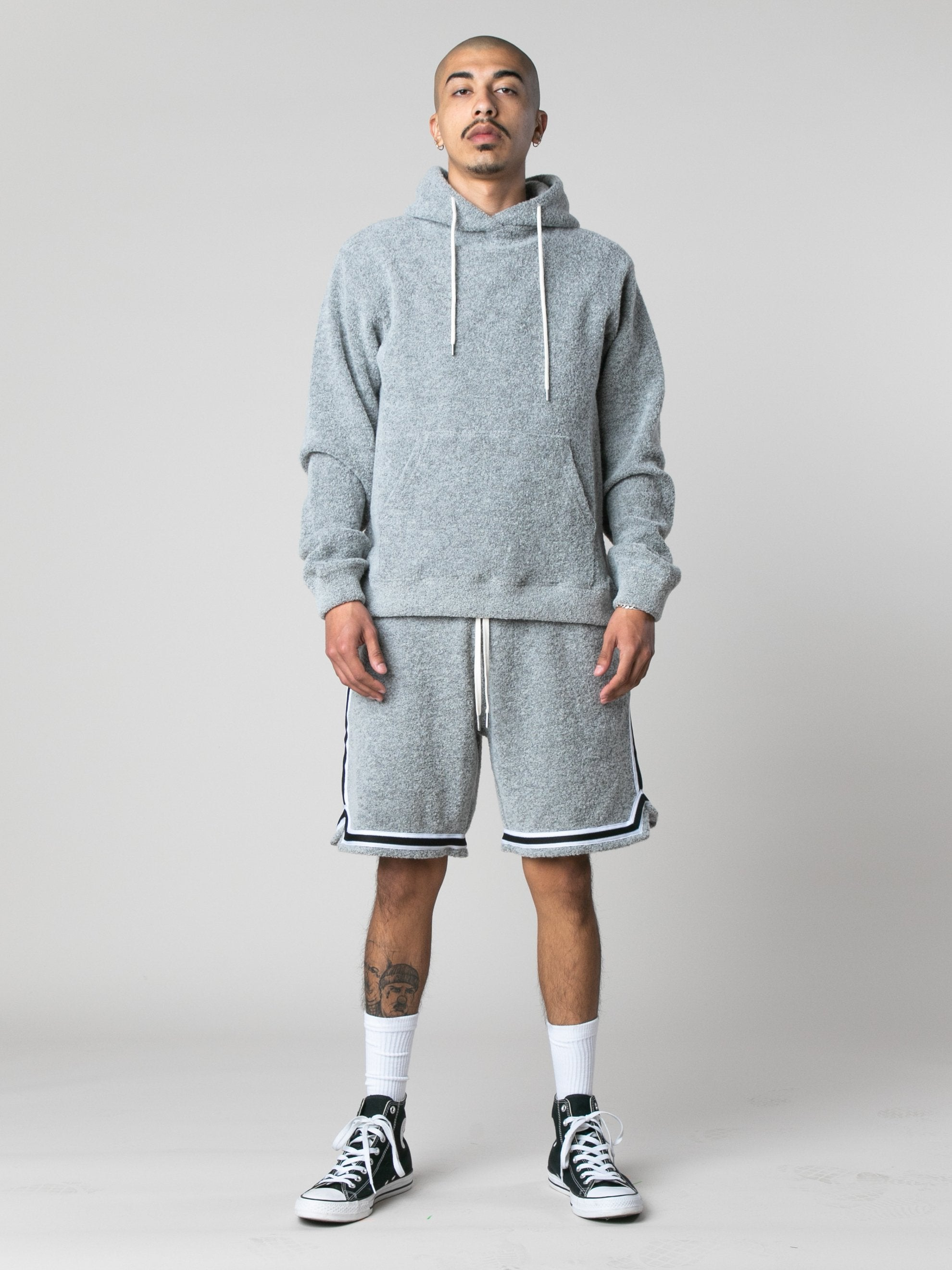 Cement Boucle Beach Hoodie 3