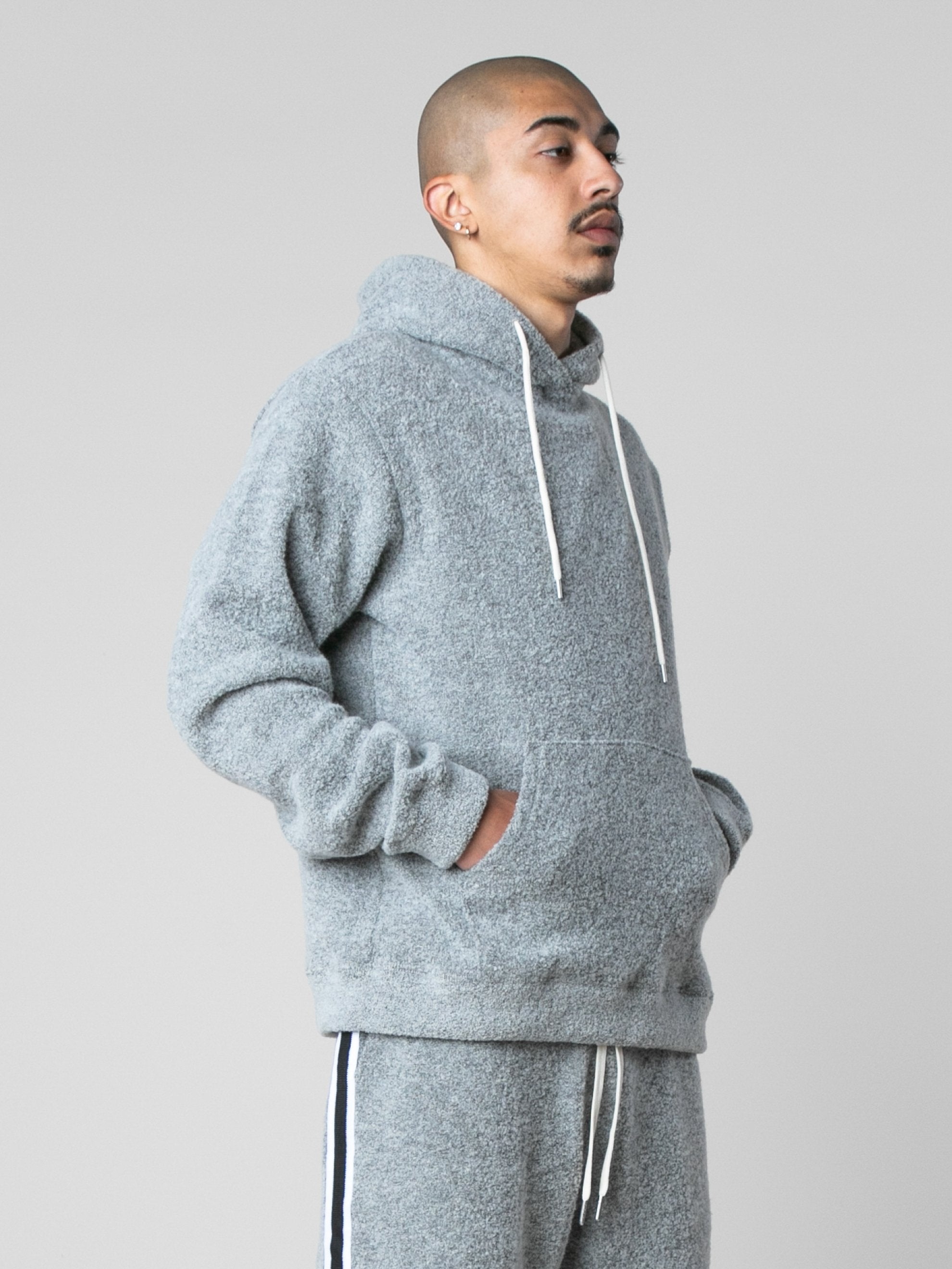 Cement Boucle Beach Hoodie 4