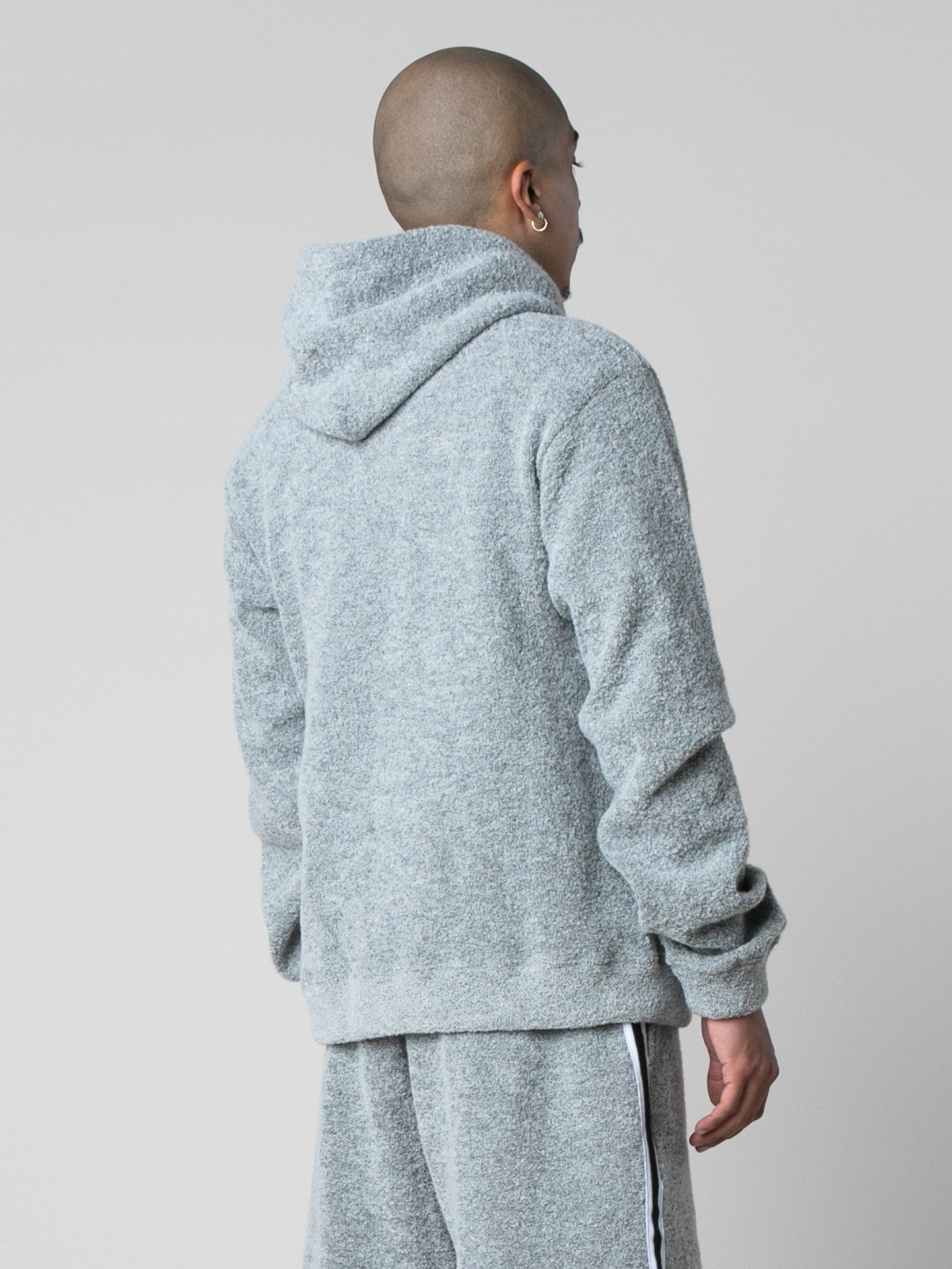 Cement Boucle Beach Hoodie 5
