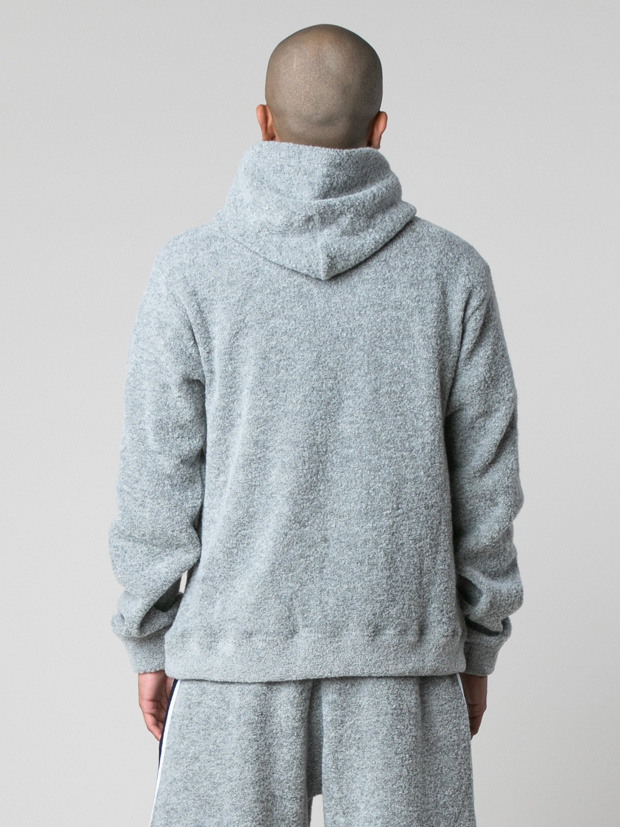 Cement Boucle Beach Hoodie 6