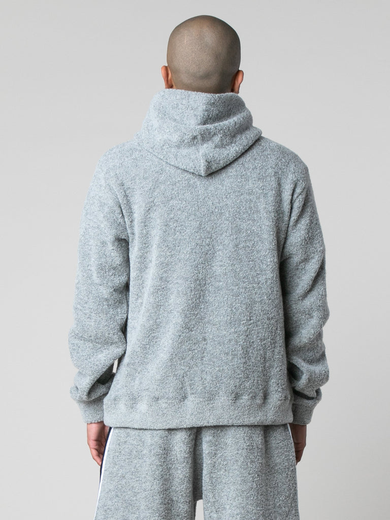Cement Boucle Beach Hoodie 614016509214797