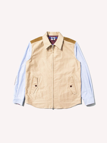 Zip Oxford Sleeve Work Shirt