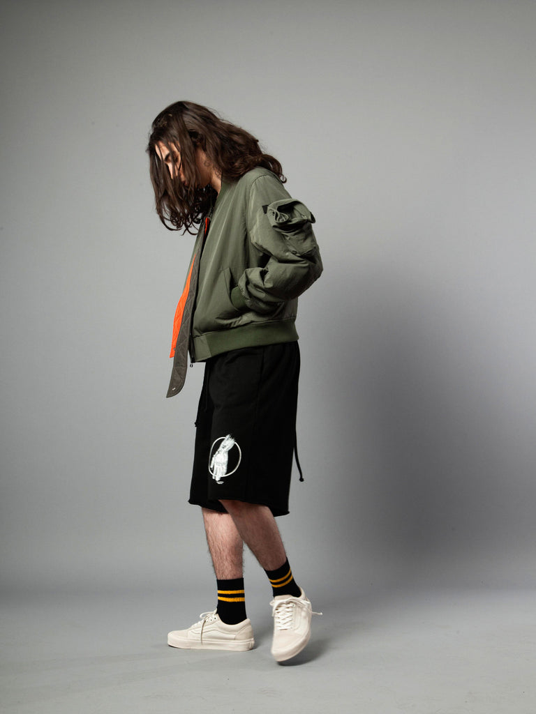 Double Zip MA-1 Bomber Jacket