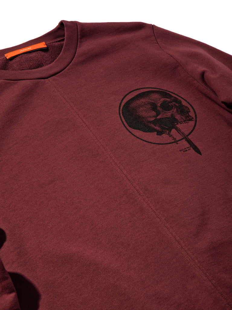 Burgundy Heavy Jersey Sweater Boxy Fit (Detachable Strap) 619855280393