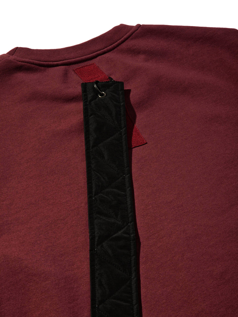 Burgundy Heavy Jersey Sweater Boxy Fit (Detachable Strap) 719855282761