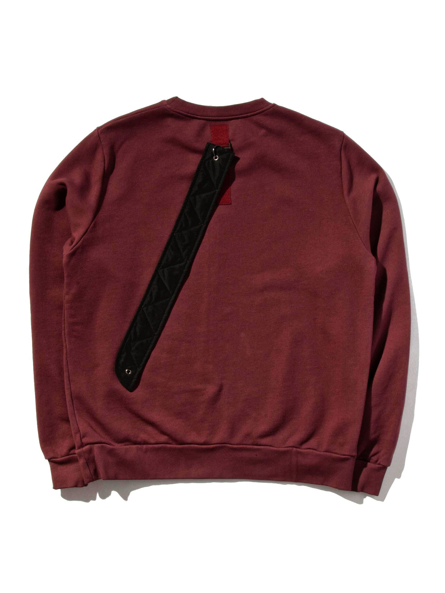 Burgundy Heavy Jersey Sweater Boxy Fit (Detachable Strap) 5