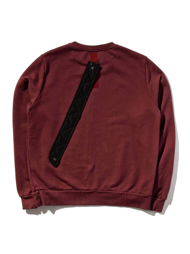 Burgundy Heavy Jersey Sweater Boxy Fit (Detachable Strap) 519855283081