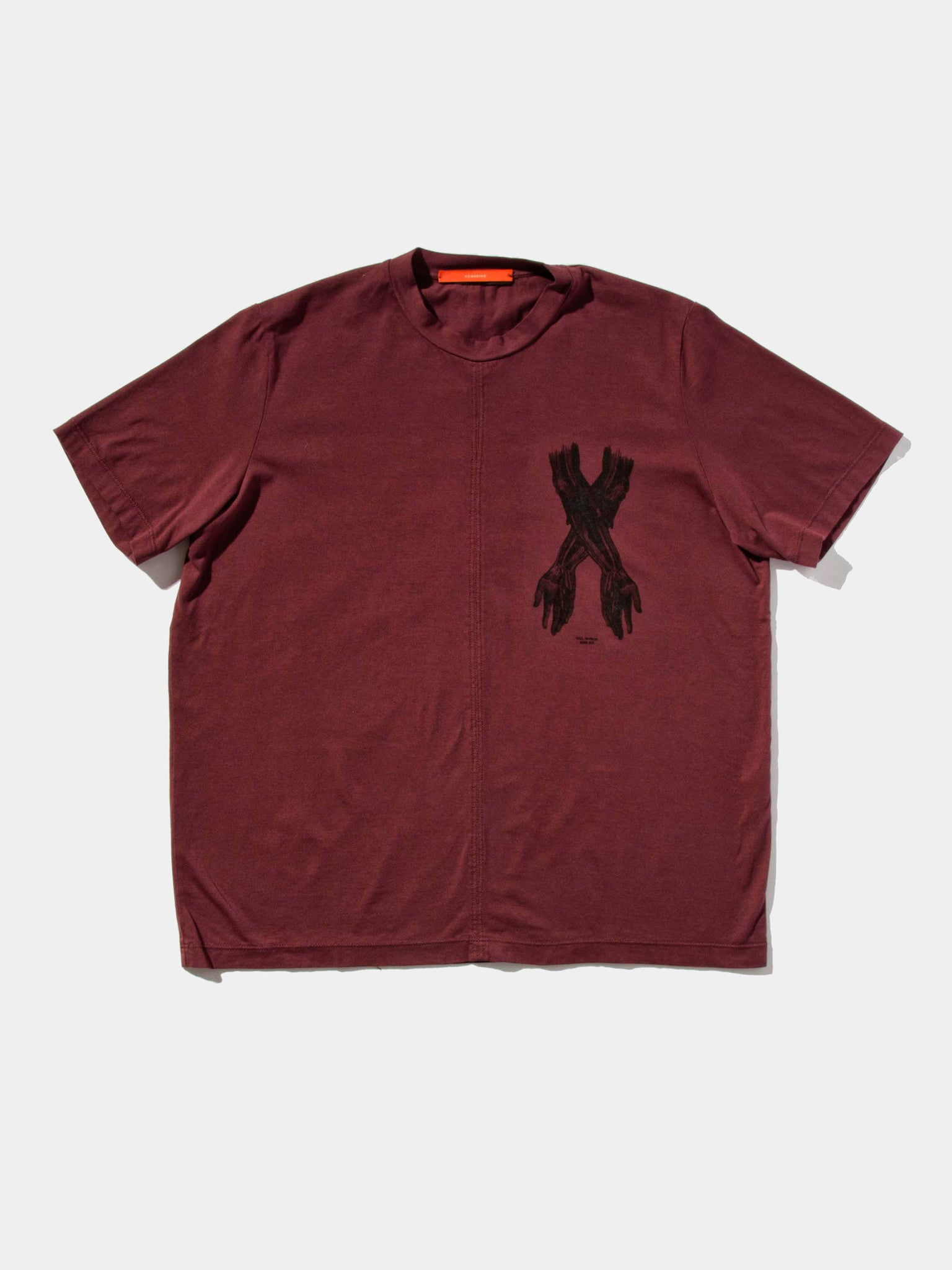 Burgundy Jersey T-Shirt (Boxy Fit) 1
