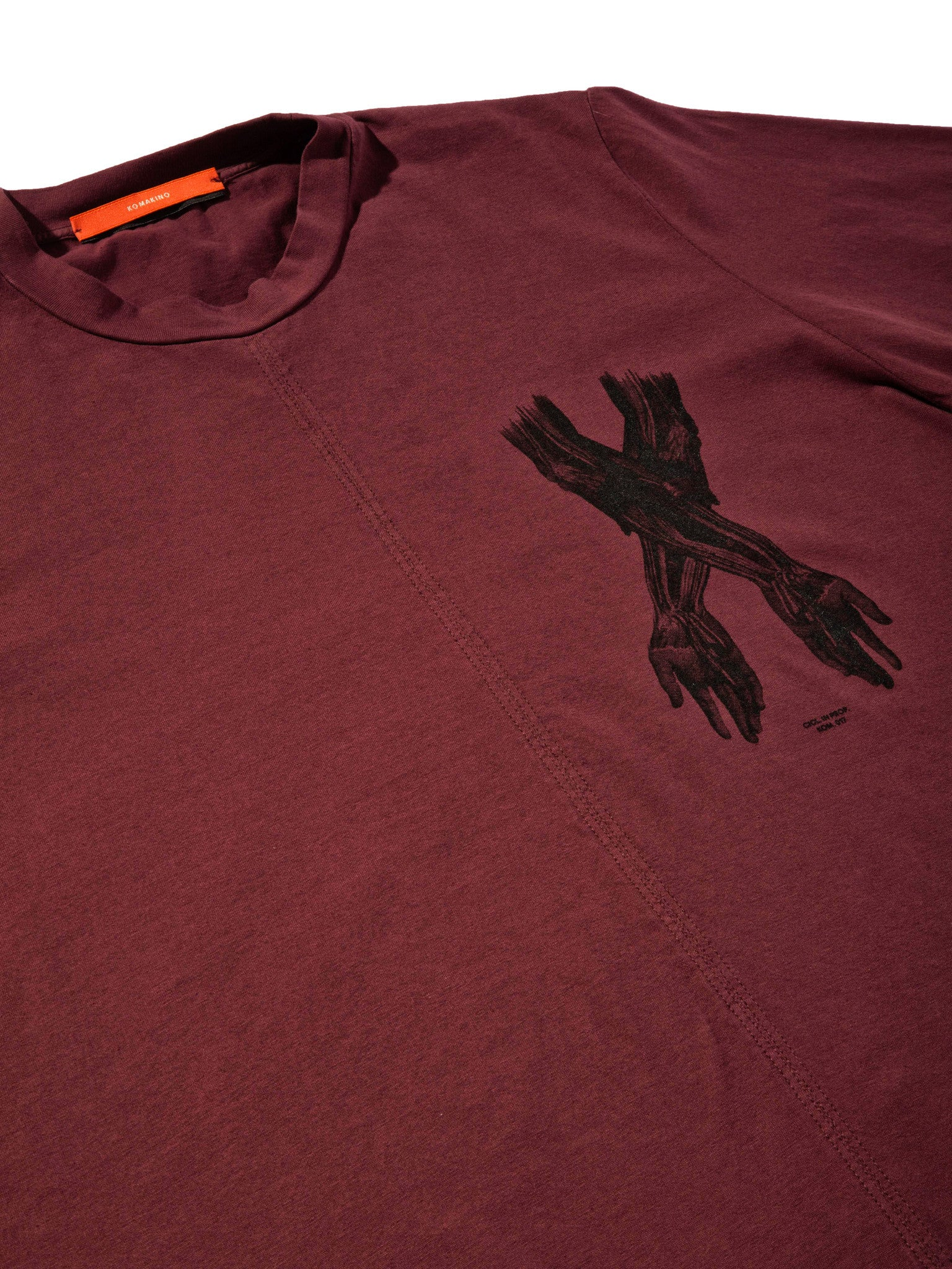 Burgundy Jersey T-Shirt (Boxy Fit) 6