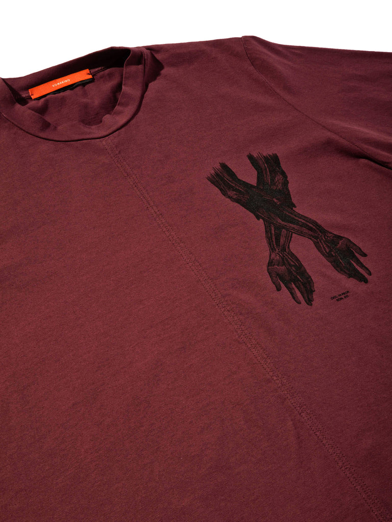 Burgundy Jersey T-Shirt (Boxy Fit) 619855276745