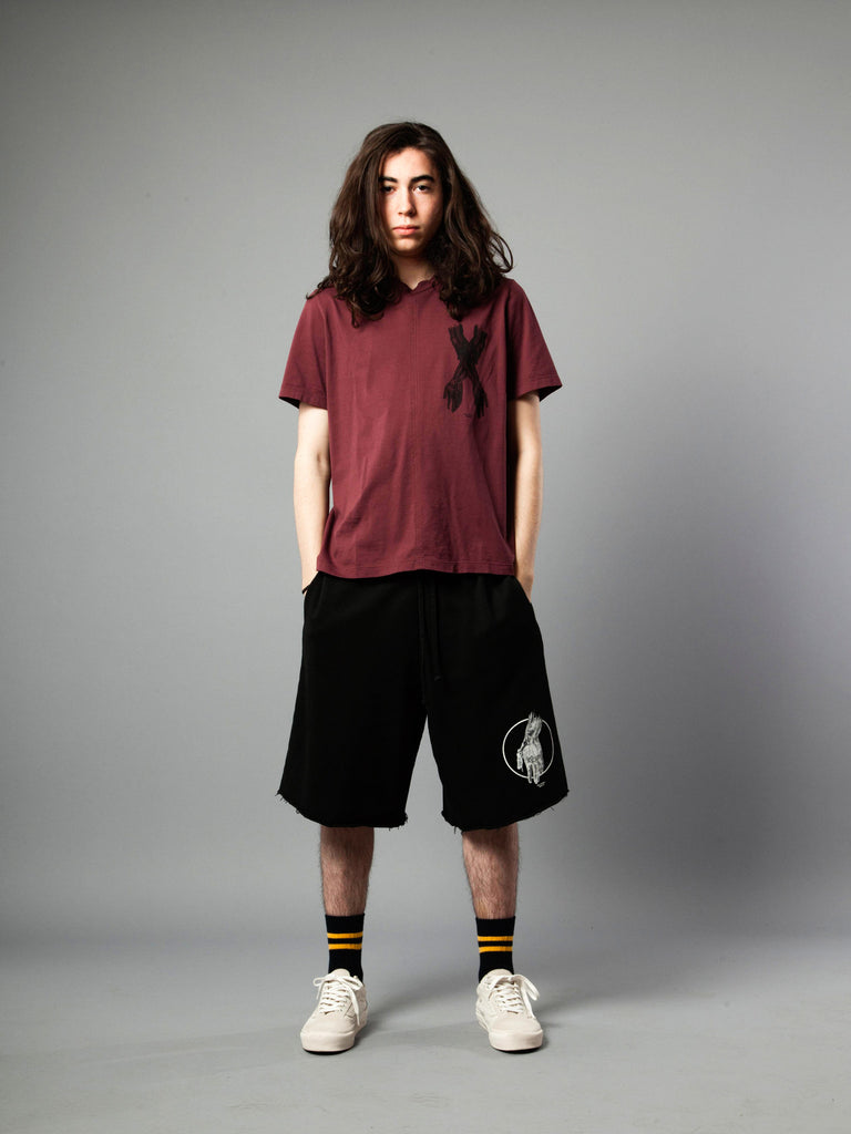 Burgundy Jersey T-Shirt (Boxy Fit) 319855279113