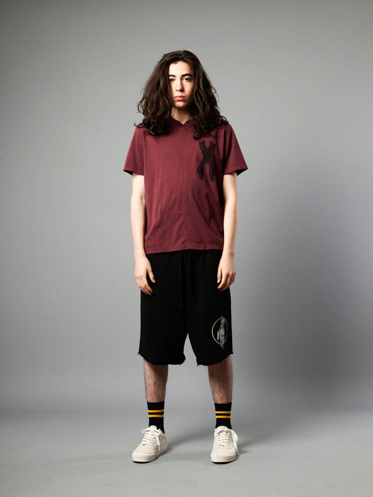 Burgundy Jersey T-Shirt (Boxy Fit) 219855279369