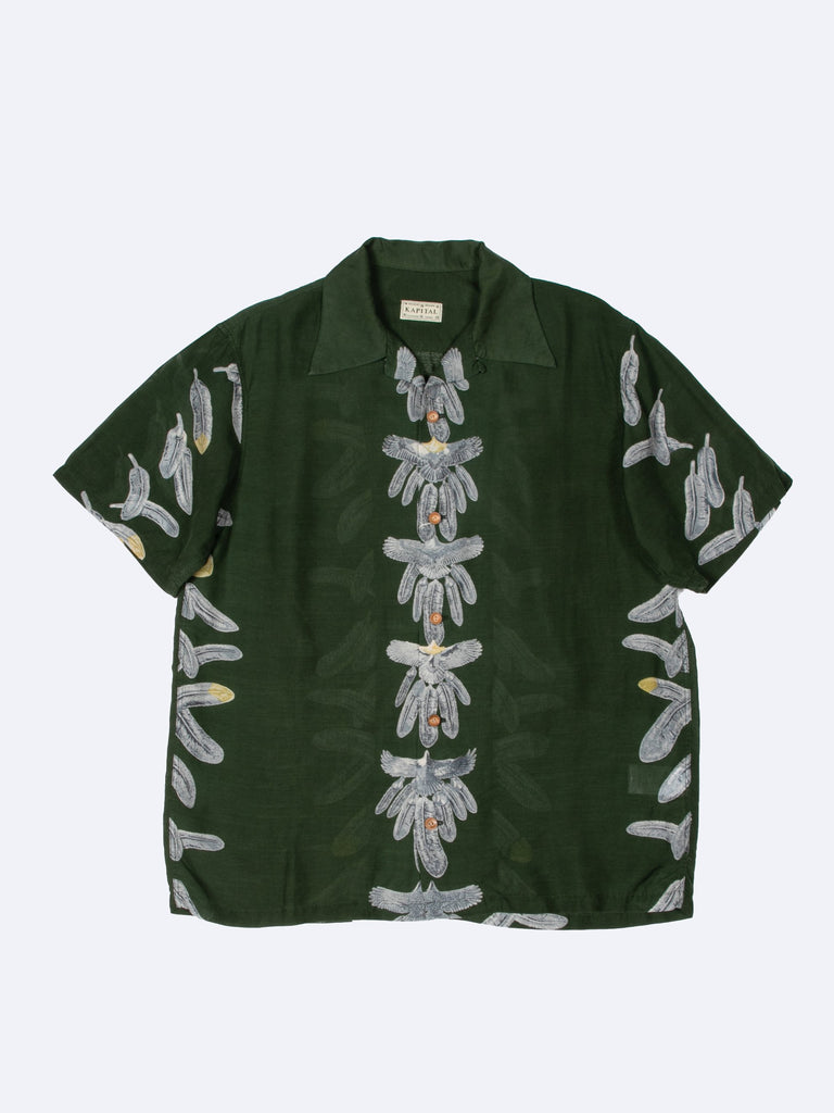 Silk Rayon Eagle Jewel Aloha Shirt