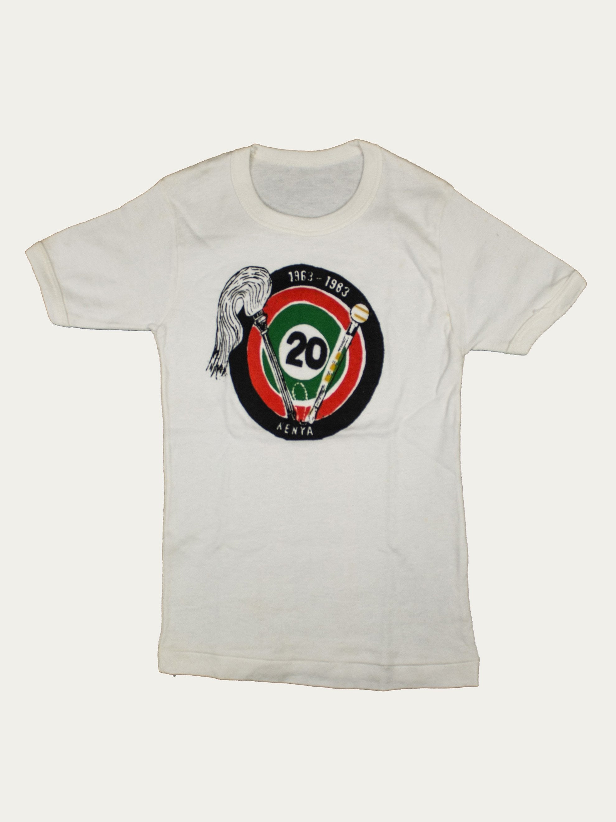 White 1983 Toddler's Kenyan Independence Commemorative T-Shirt 1