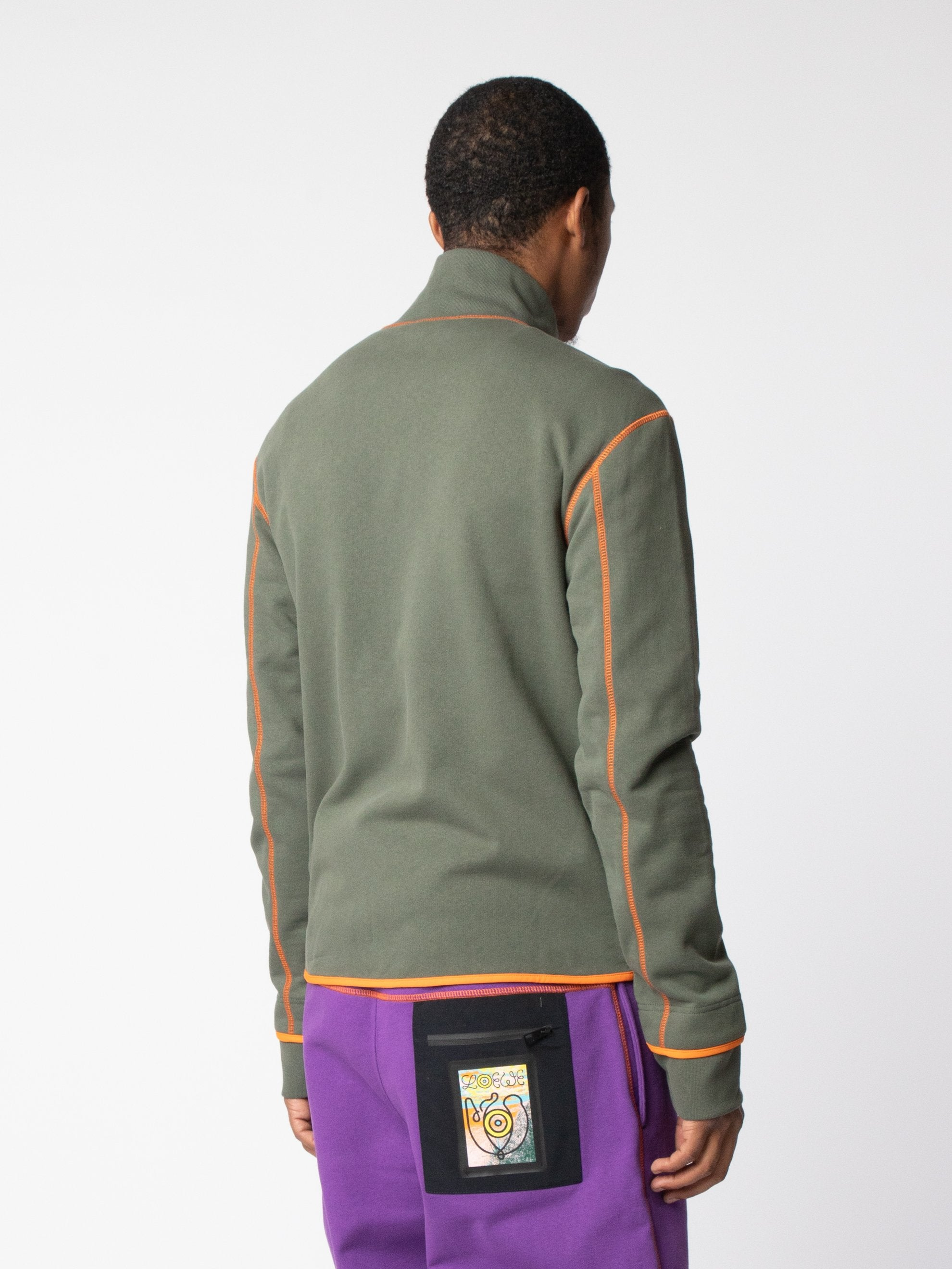 Khaki ELN High Neck Fleece Jackets 5