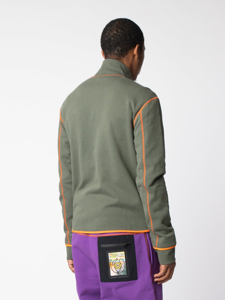 Khaki ELN High Neck Fleece Jackets 514096906453069